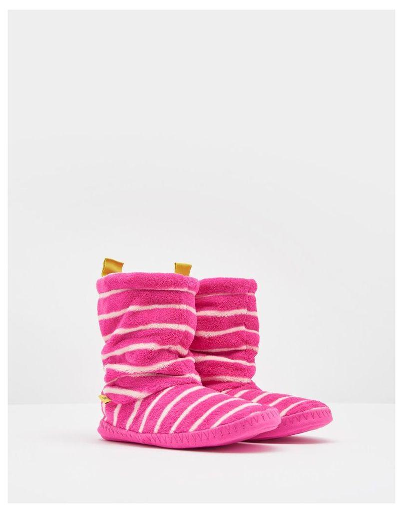 Cream Marl Stripe Homestead Slippers  Size M   Joules UK