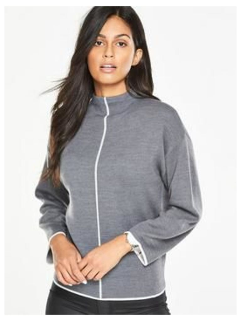 V By Very Tipped Funnel Neck Jumper