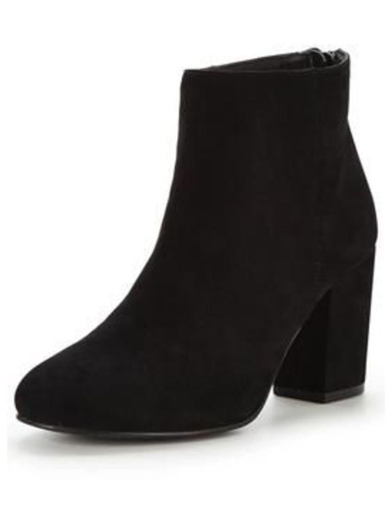 Head over Heels olive Tassle ankle boot, Black, Size 8, Women