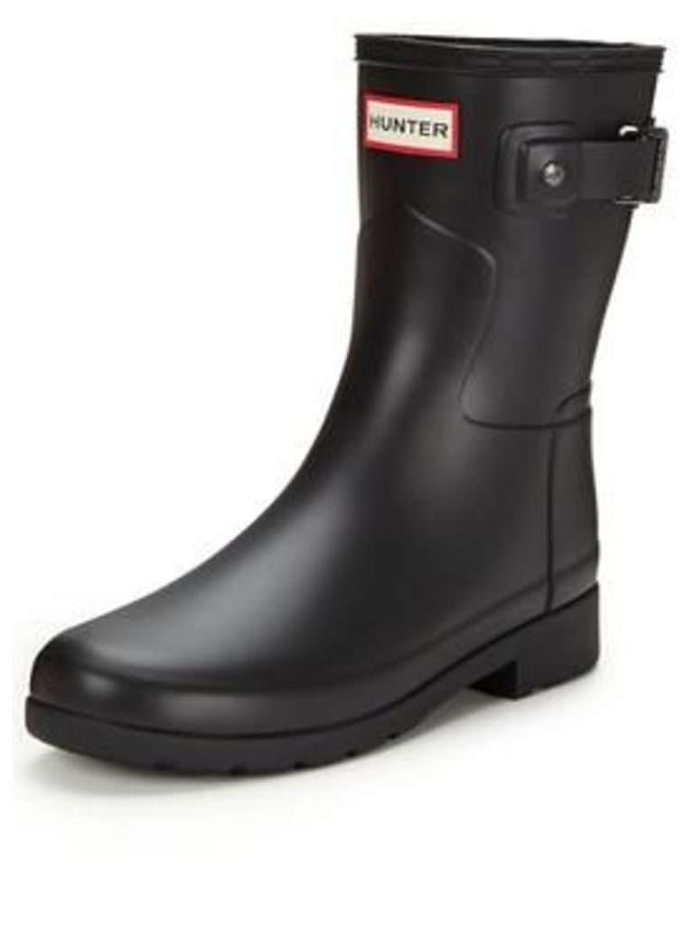 Hunter Original Refined Short Welly, Black, Size 5, Women