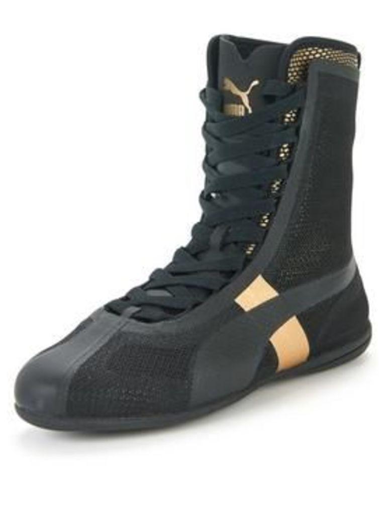 Puma Eskiva Hi EVO Shoe - Black/Gold, Black/Gold, Size 6, Women