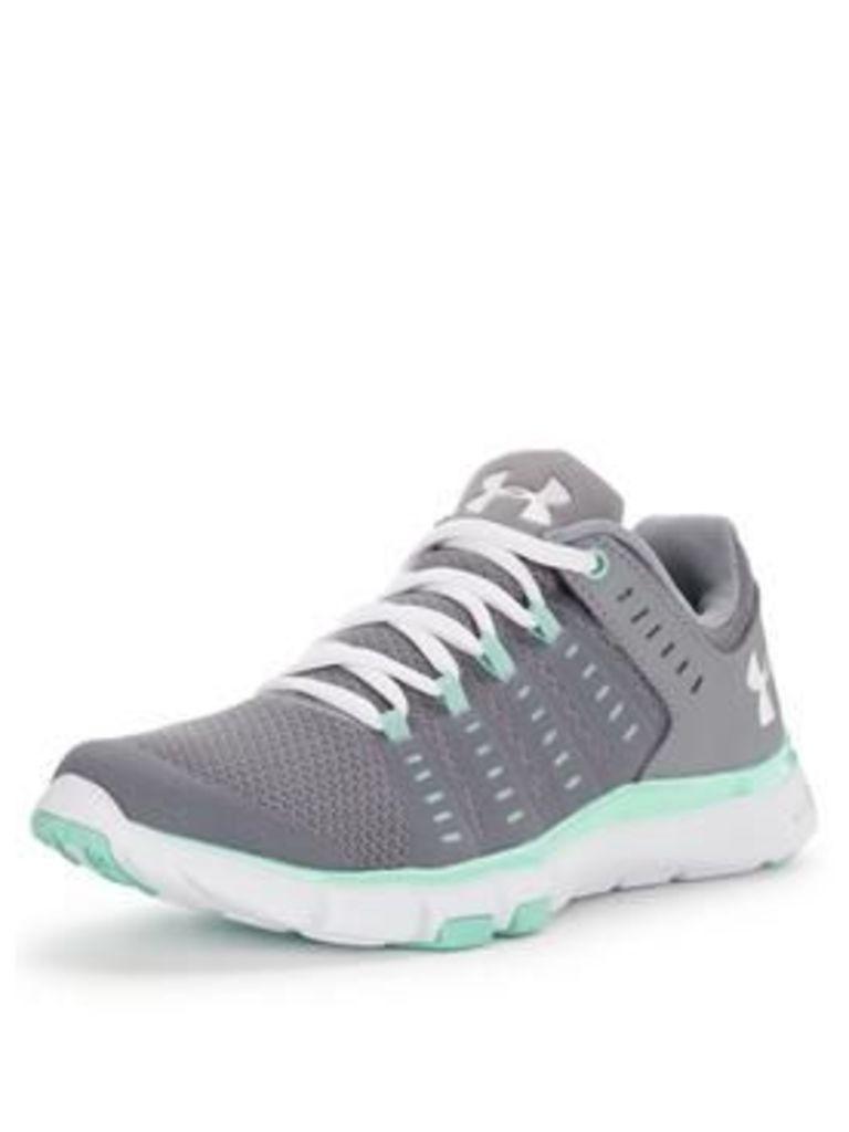 UNDER ARMOUR Micro G® Limitless Gym Shoes - Grey/White, Grey/White, Size 4, Women