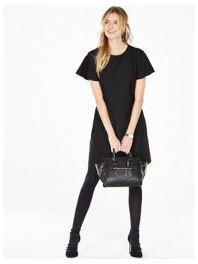 V by Very Short Sleeve Tunic Dress, Stripe, Size 24, Women