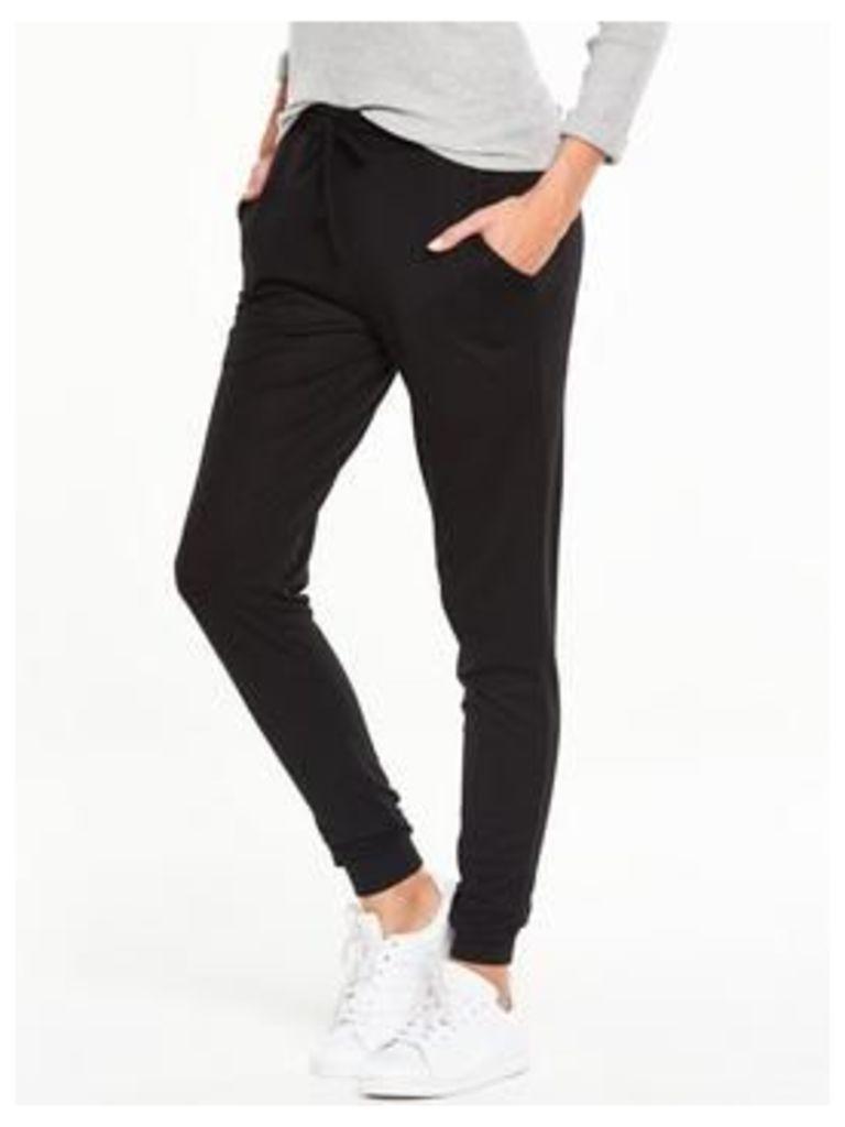 V by Very Panel Jog Pant - Black, Black, Size 16, Women