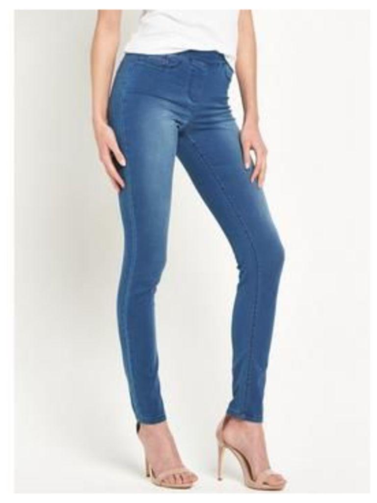 V by Very Denim Super Soft Jegging, Black, Size 12, Inside Leg Regular, Women