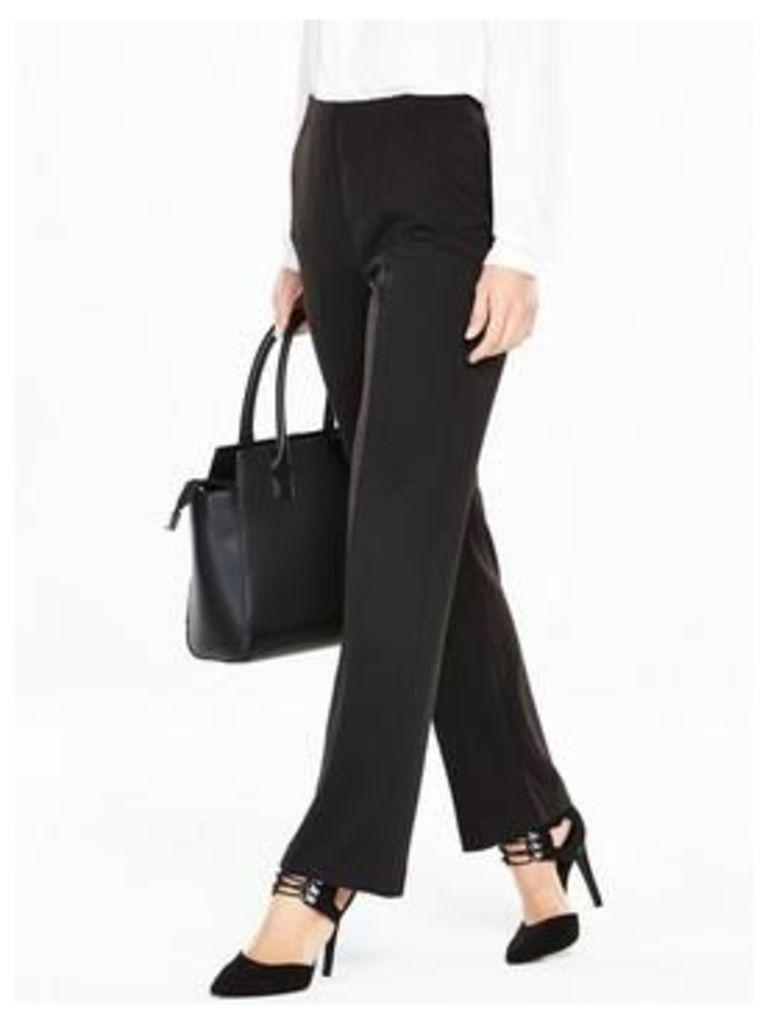 V by Very Pull On Ponte Petite Trouser, Black, Size 20, Inside Leg Short, Women