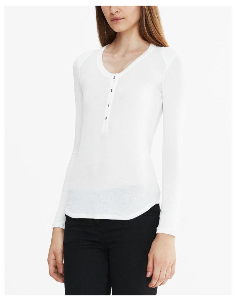 Belstaff Hamble Henley T-Shirt White