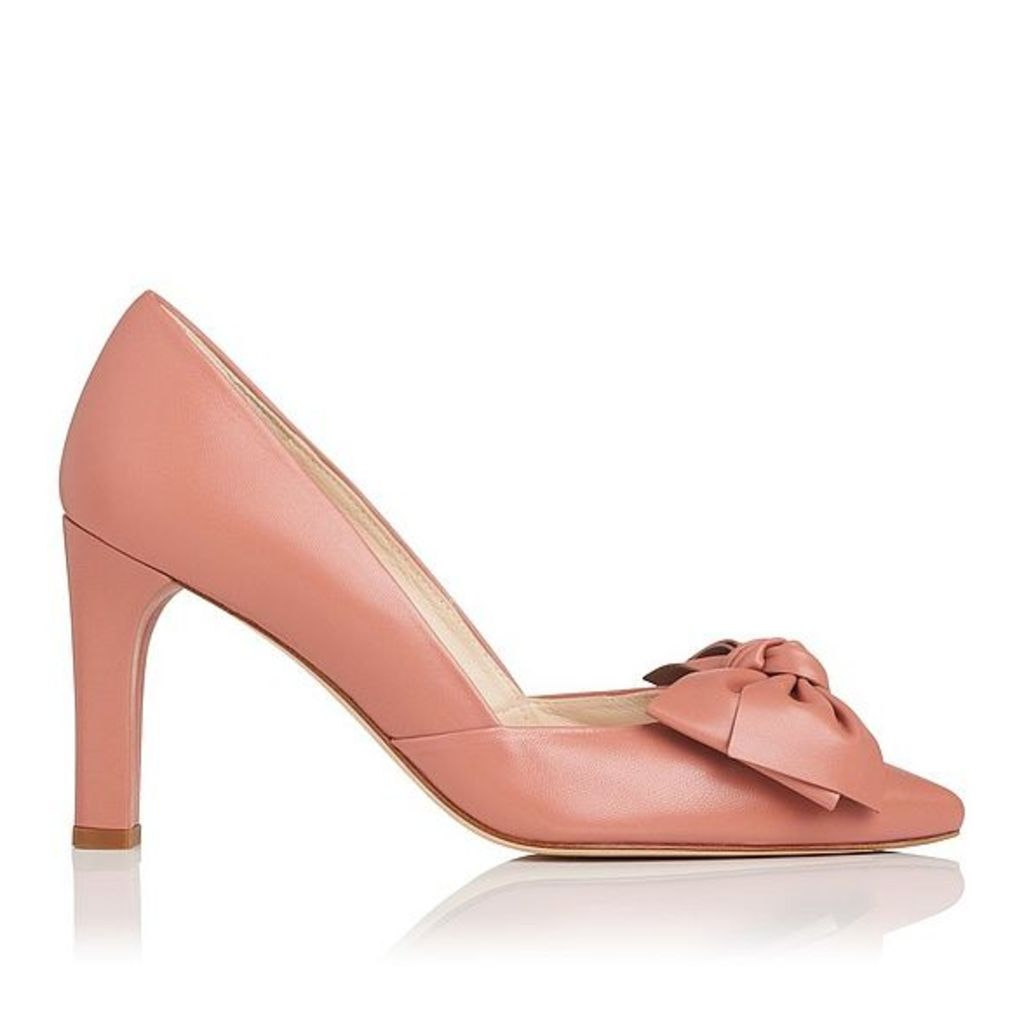 Isla Pink Leather Closed Courts