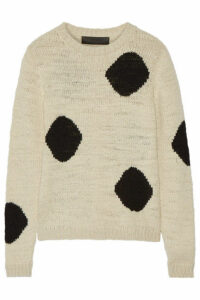 The Elder Statesman - Intarsia Cashmere Sweater - Cream