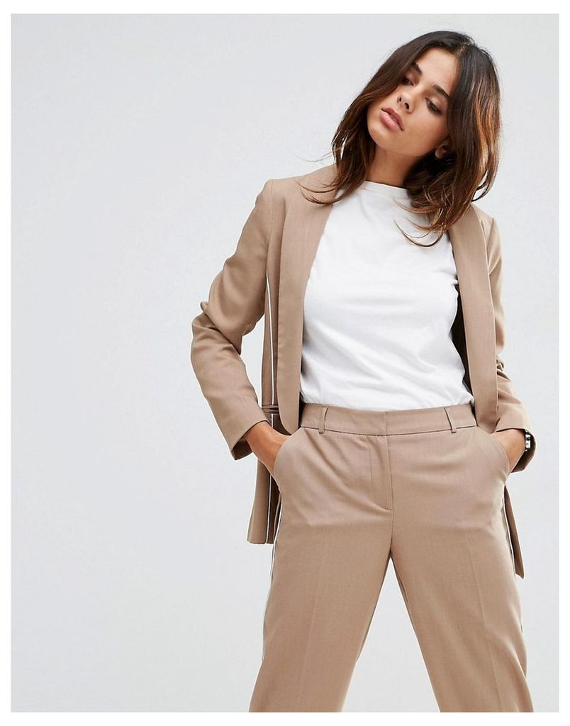 ASOS Clean Blazer with Piping Detail - Sand