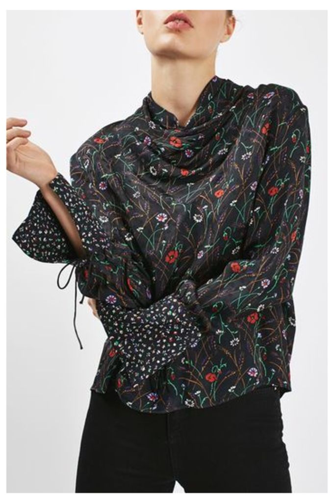 Womens Floral Insert Blouse by Boutique - Multi, Multi