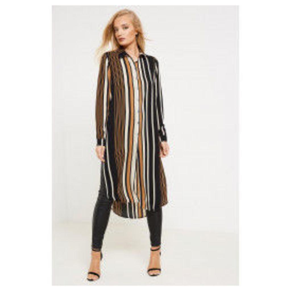 Only Nova Lux Stripe Long Shirt - Black
