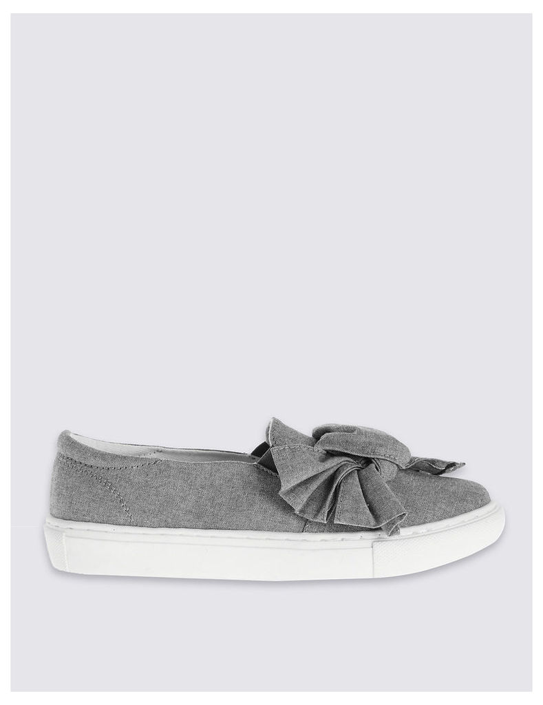 M&S Collection Bow Trainers with Insolia Flex