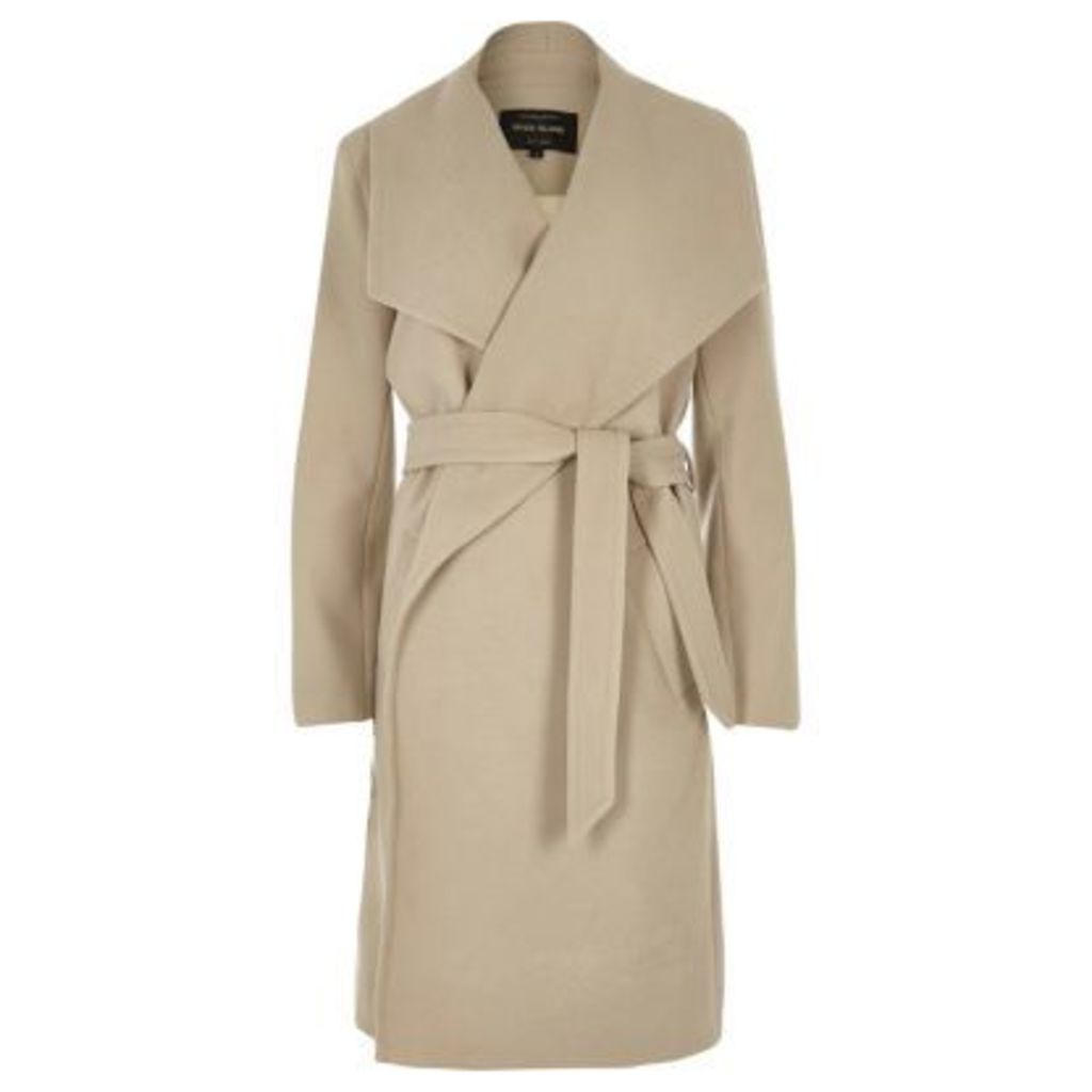 River Island Womens Beige robe coat