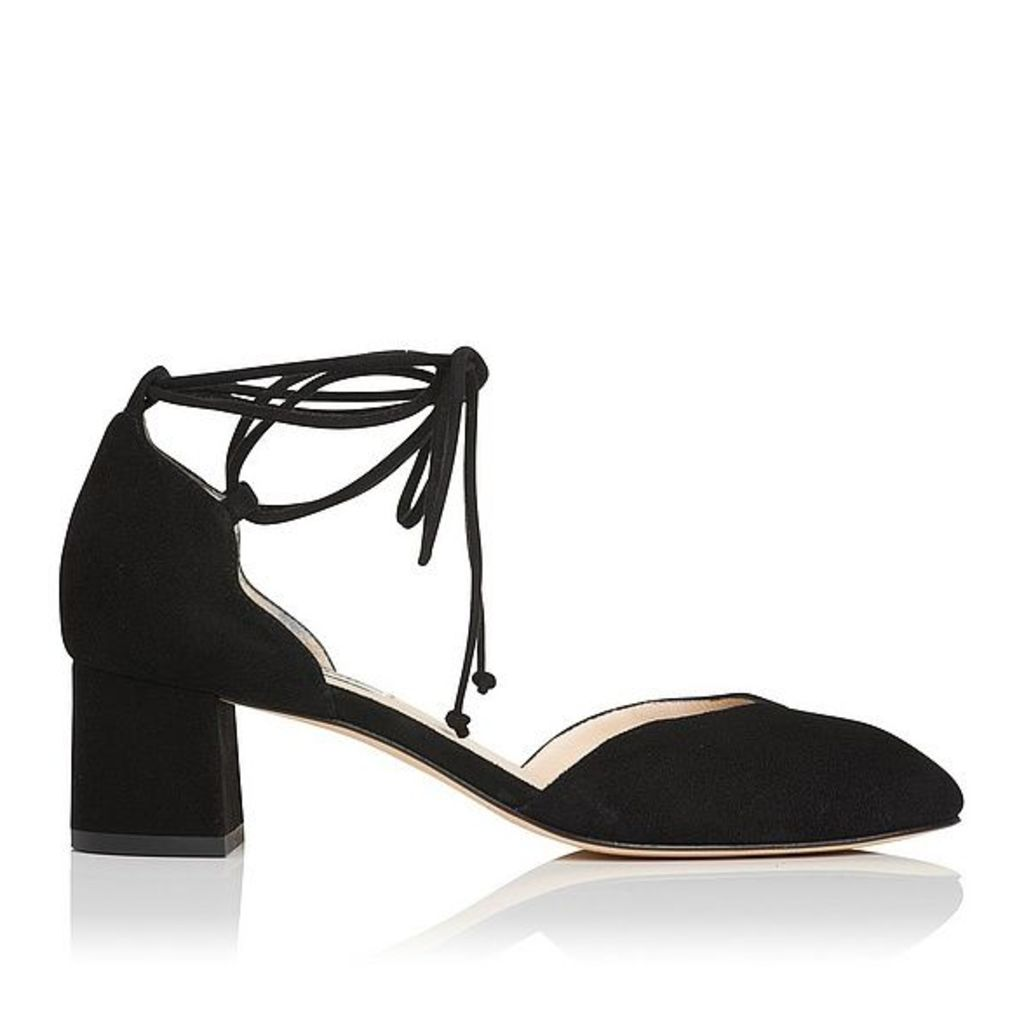 Lali Black Suede Open Courts