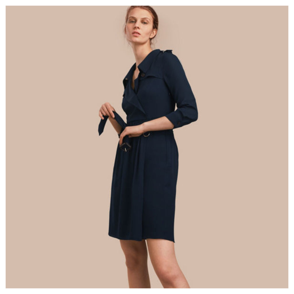Silk Trench Dress