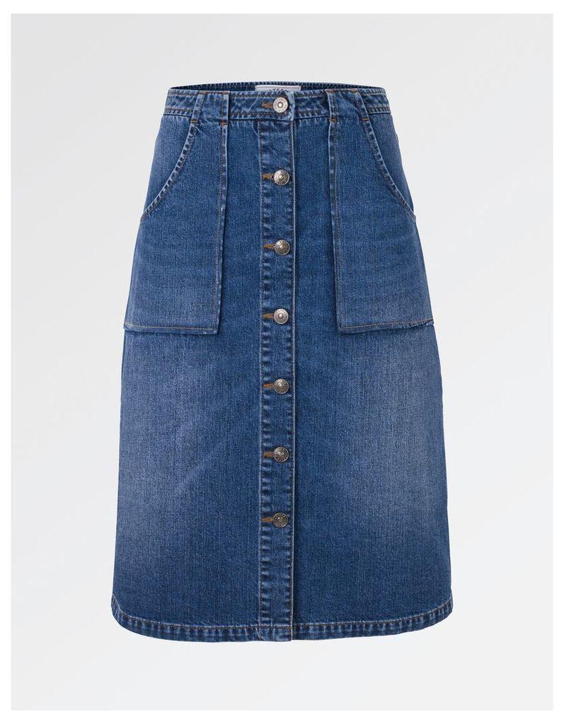 Fat Face Alexa Denim Skirt