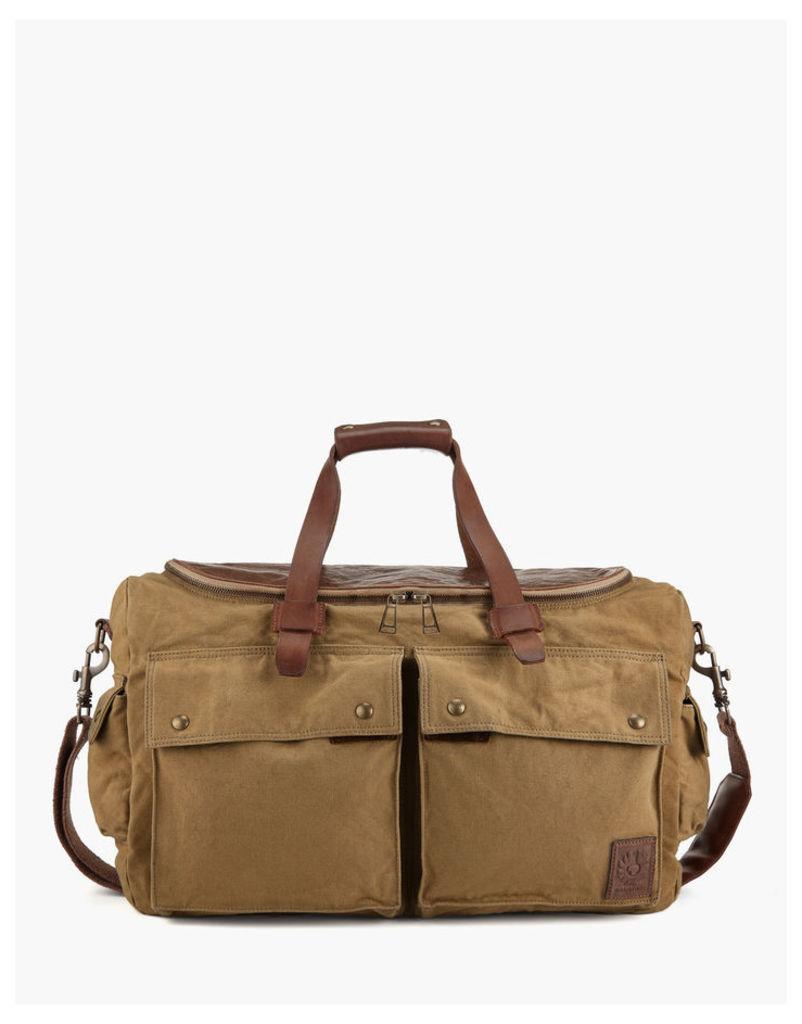 Belstaff Magnum Weekender Bag Khaki