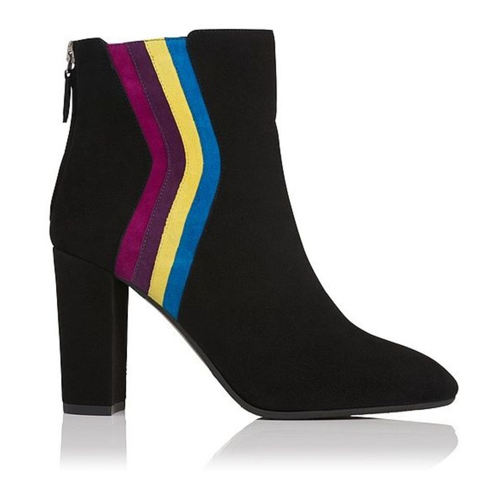 Serafina Multi Coloured Suede Ankle Boots