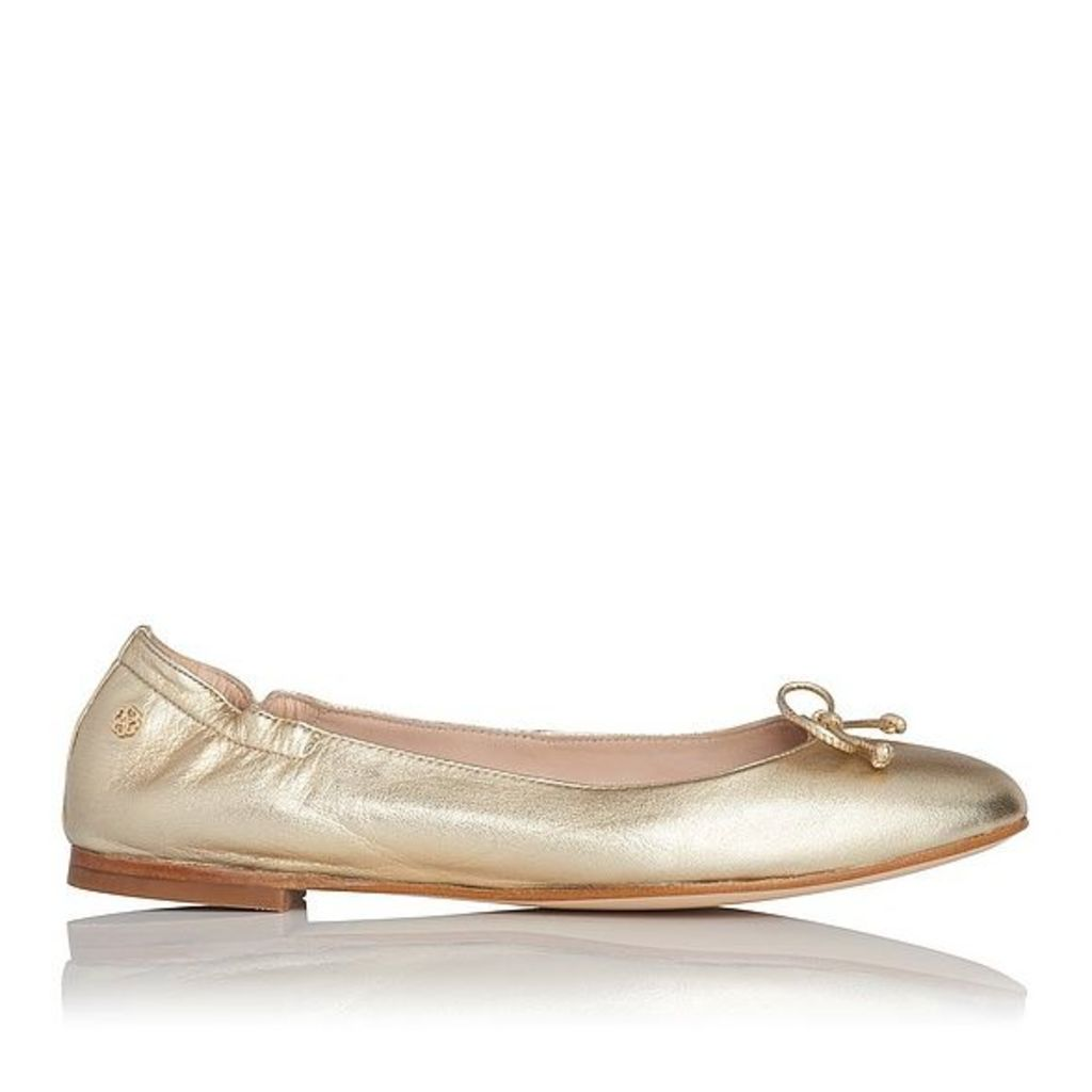 Thea Gold Nappa Leather Flats