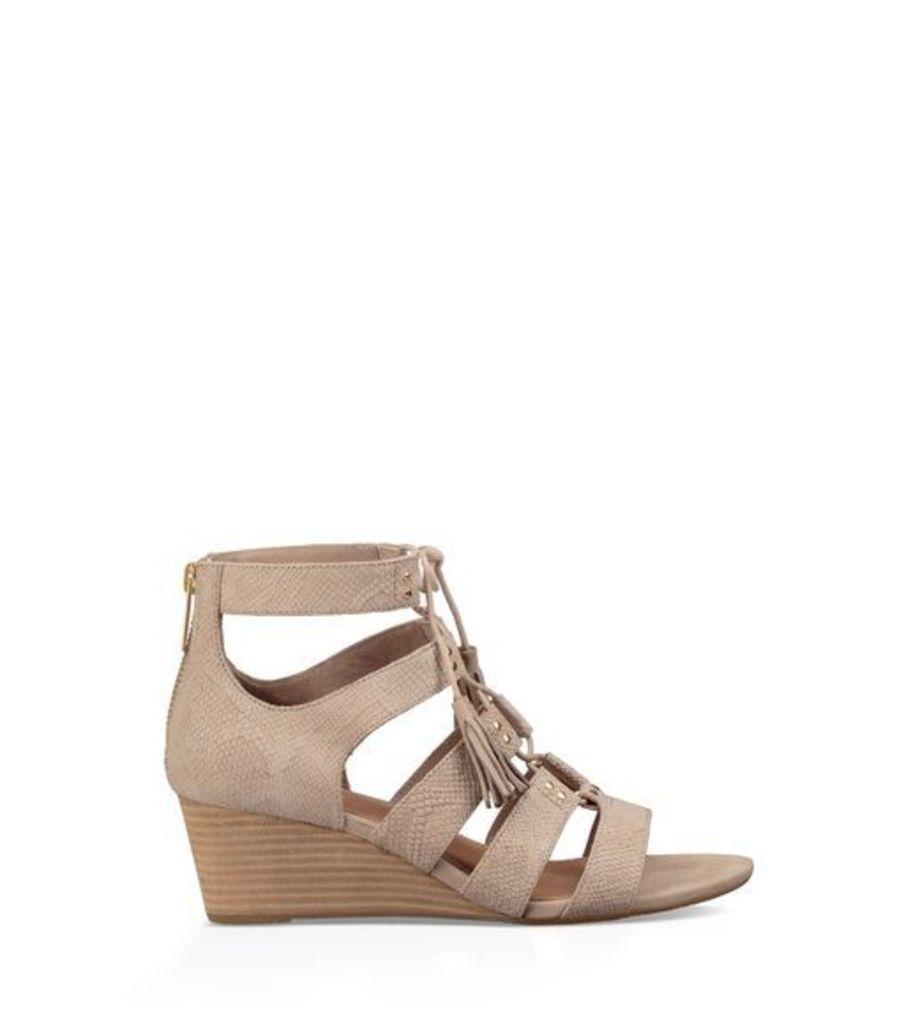 UGG Yasmin Snake Womens Sandals Horchata 8