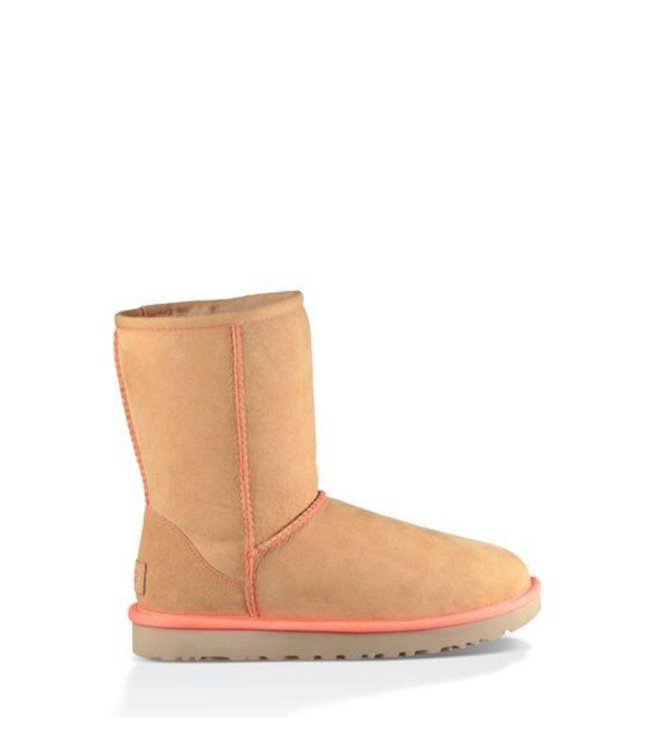 UGG Classic Short Ii Neon Womens Classic Boots Soft Ochre 8