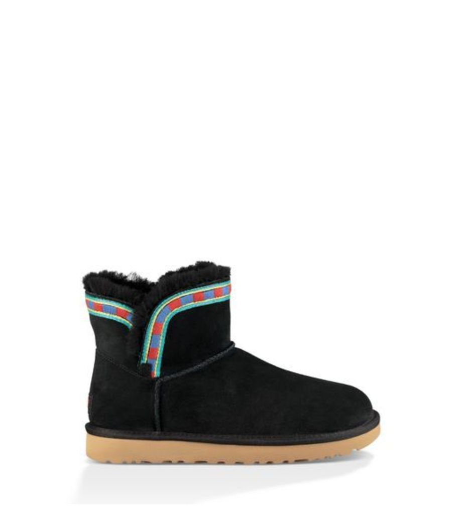 UGG Rosamaria Embroidery Womens Classic Boots Black 6