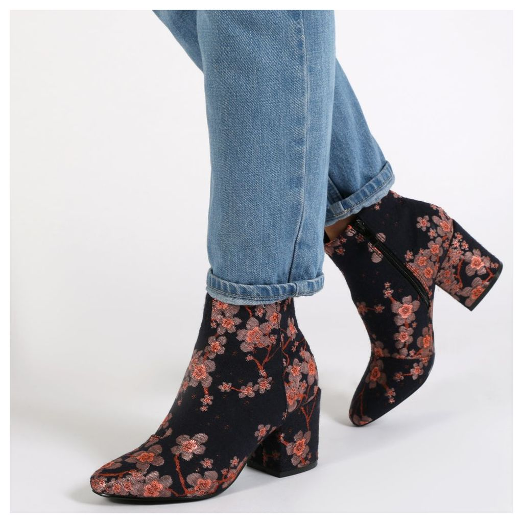 Malika Ankle Boots In Denim Floral