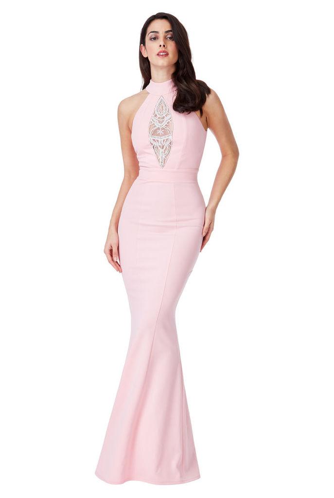 Embellished Maxi Dress - Pink