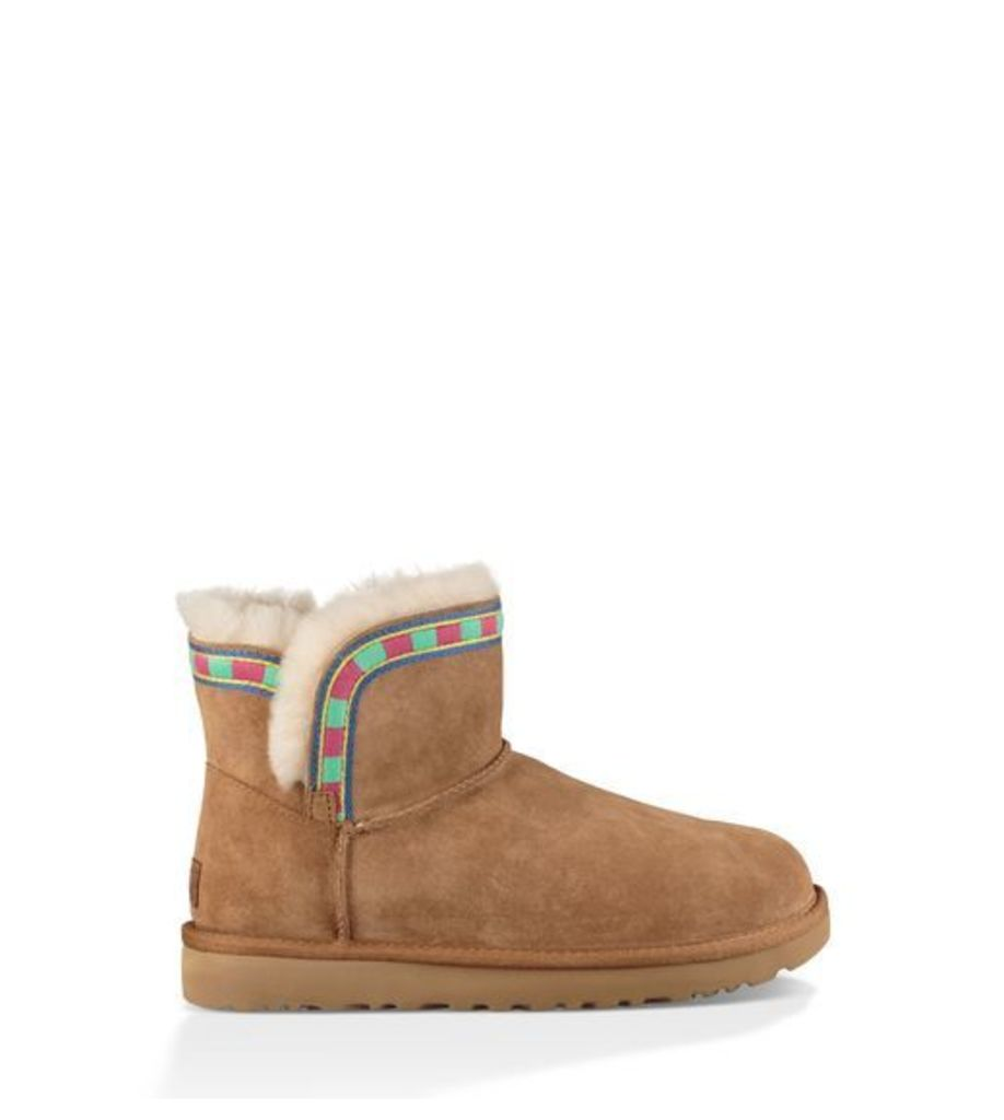 UGG Rosamaria Embroidery Womens Classic Boots Chestnut 8