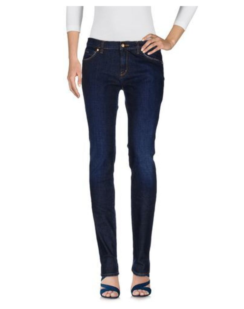 LOVE MOSCHINO DENIM Denim trousers Women on YOOX.COM