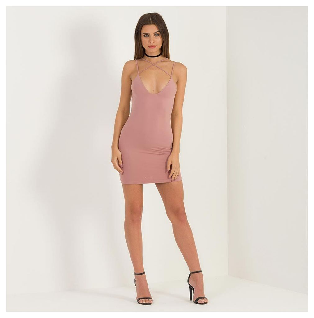 Maniere De Voir; Harness Bodycon Dress - Rose
