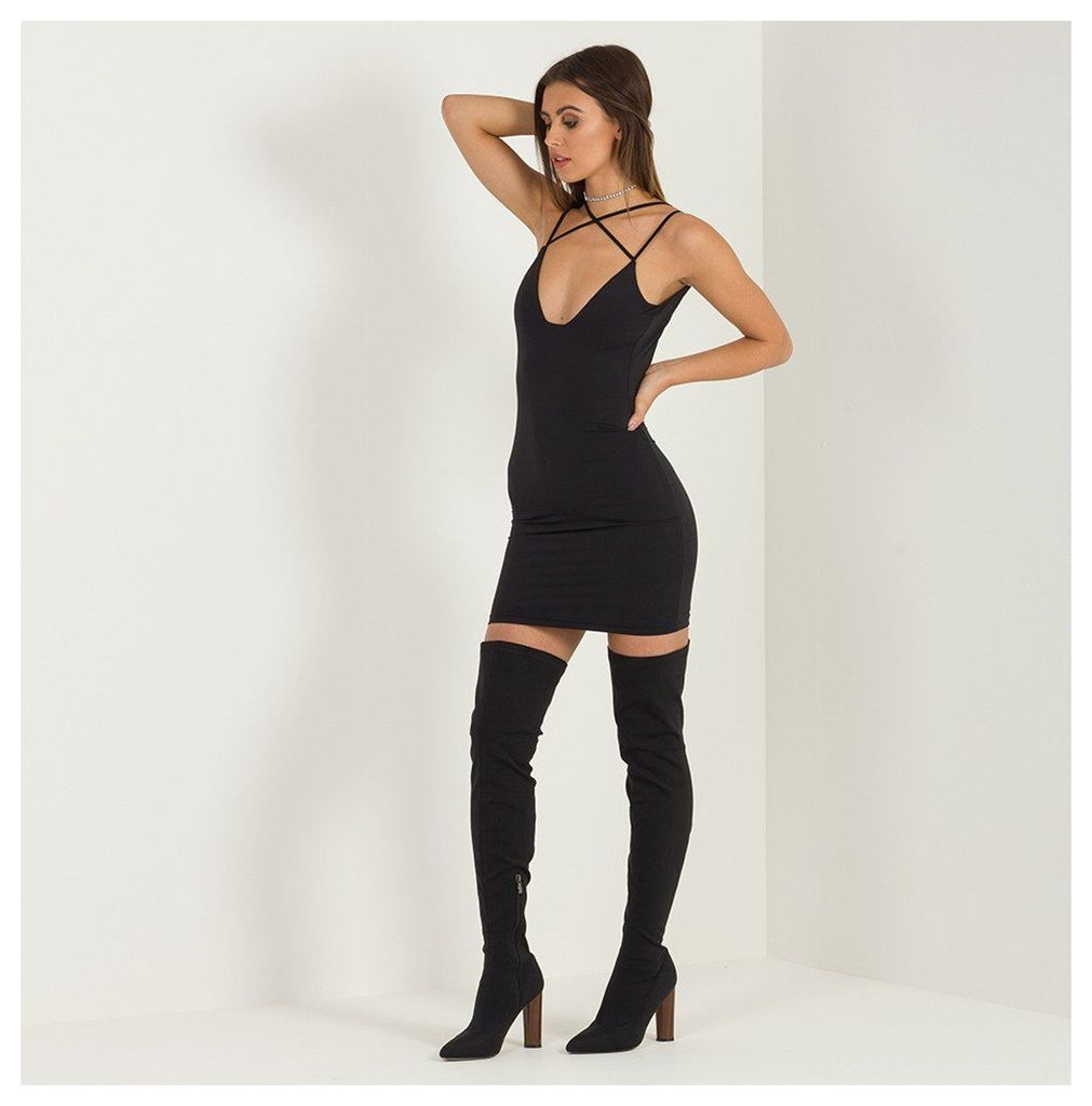 Maniere De Voir; Harness Bodycon Dress - Black