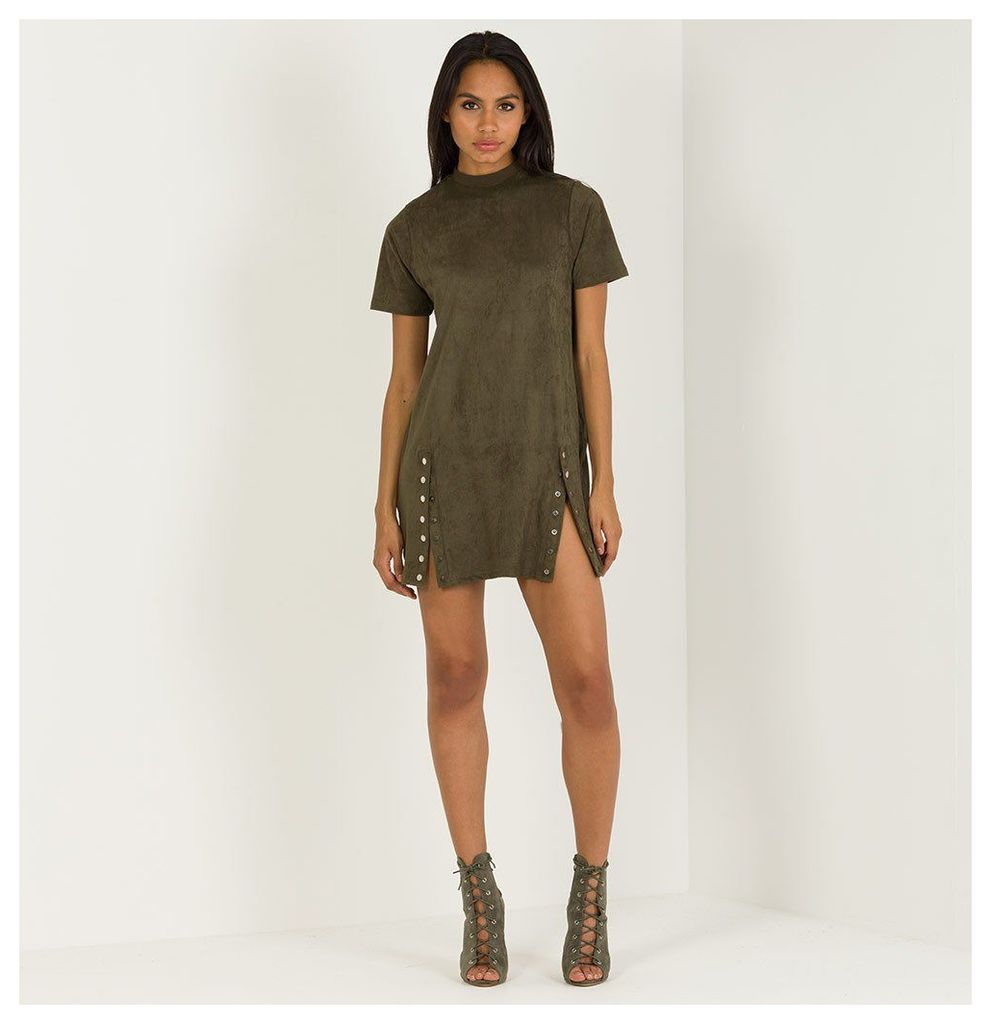 Maniere De Voir; Suede T-Shirt Dress - Khaki