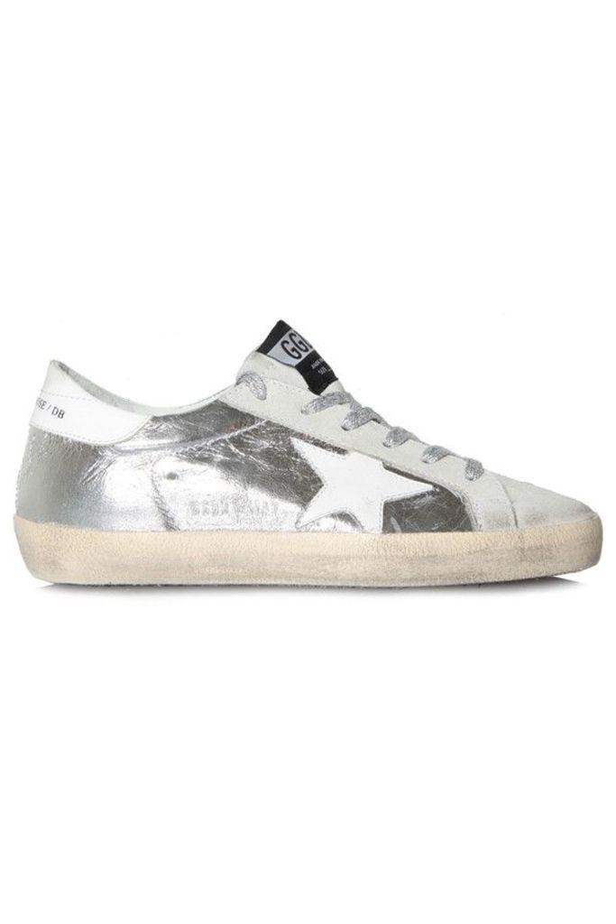 Sneakers Superstar Wrinkled Silver