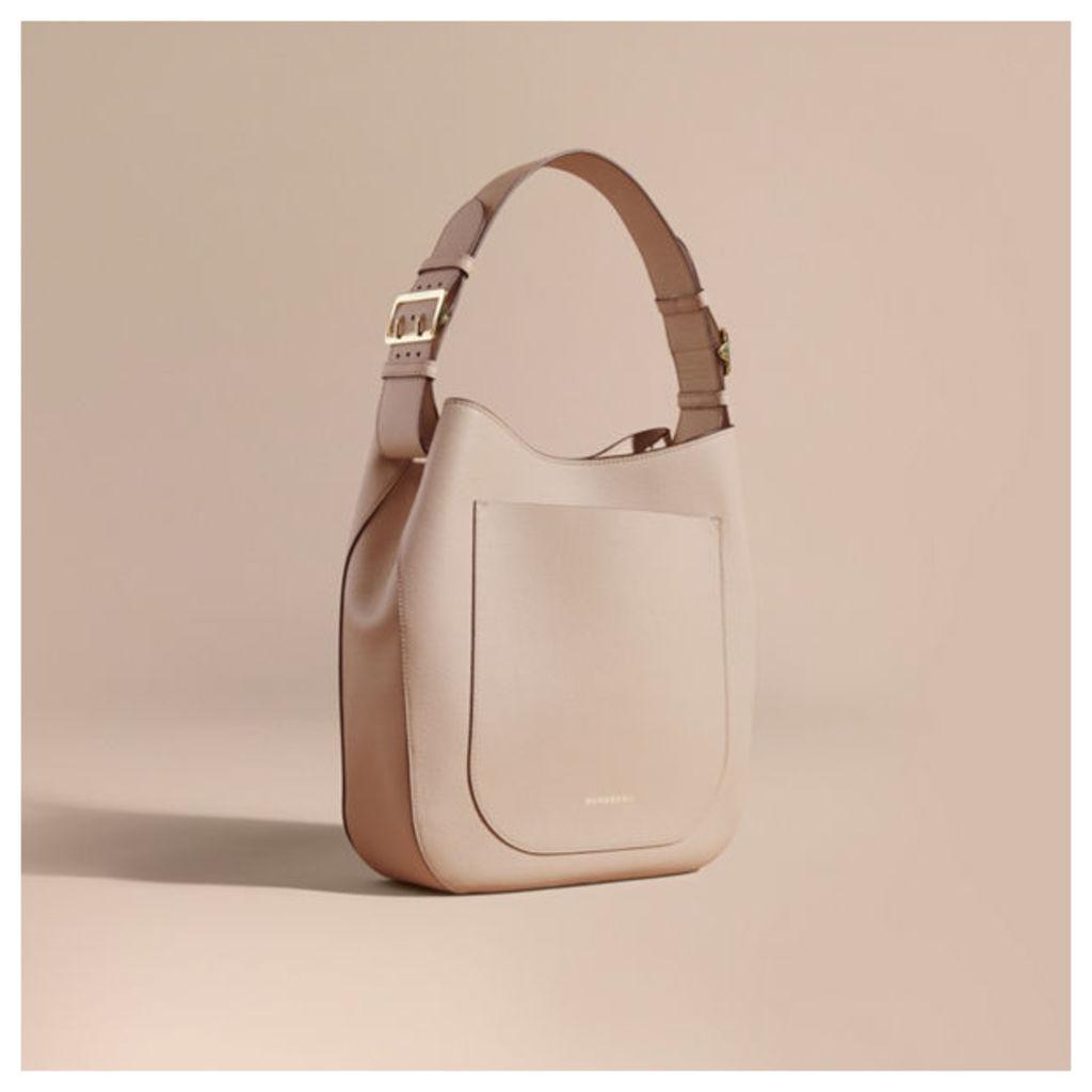 Textured Leather Shoulder Bag
