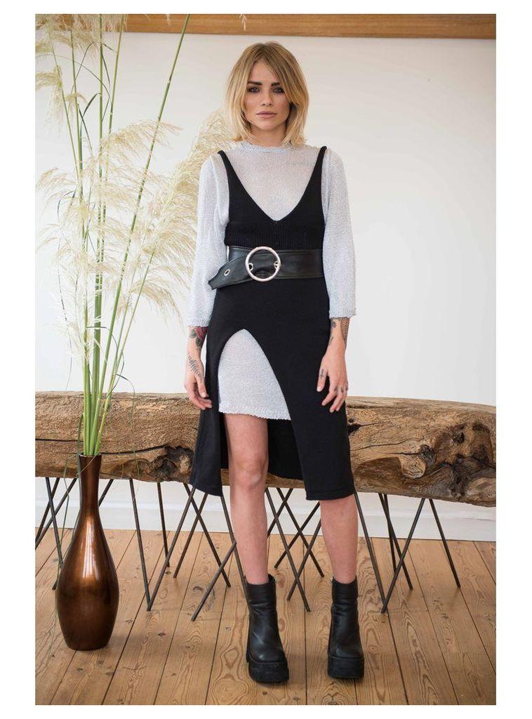 BLACK SLIP DRESS - XS