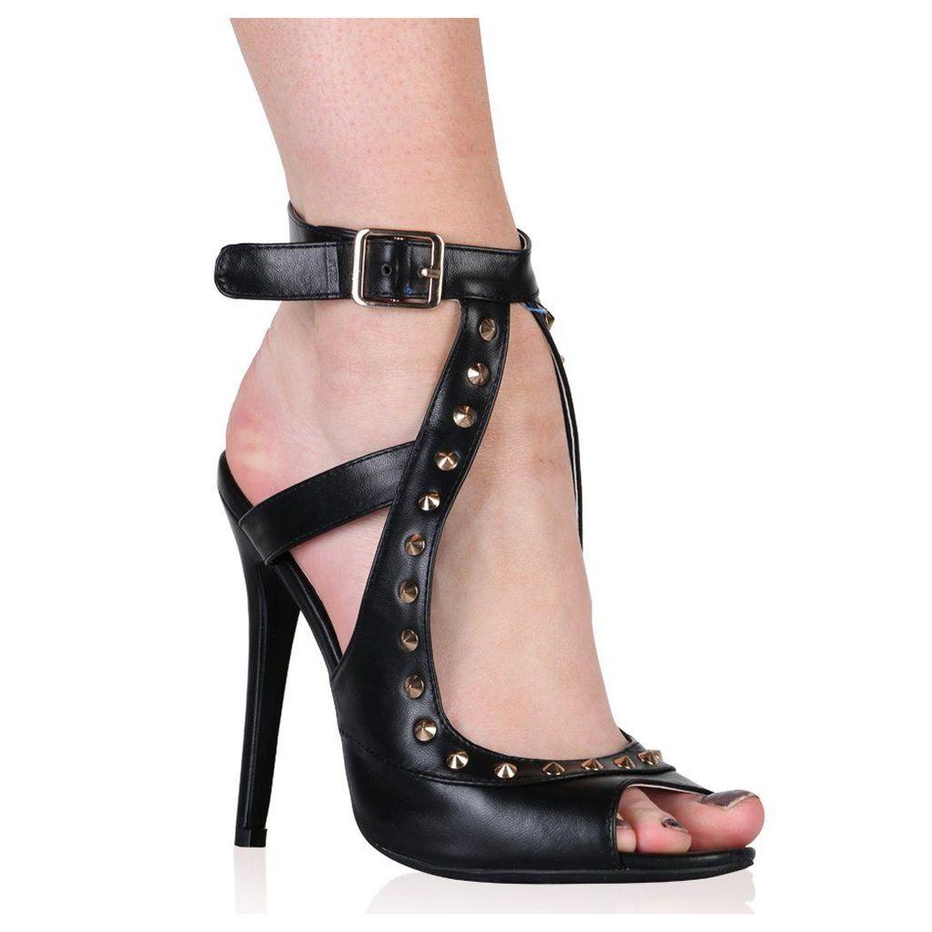 Johanna Stiletto Heels In Black, Black