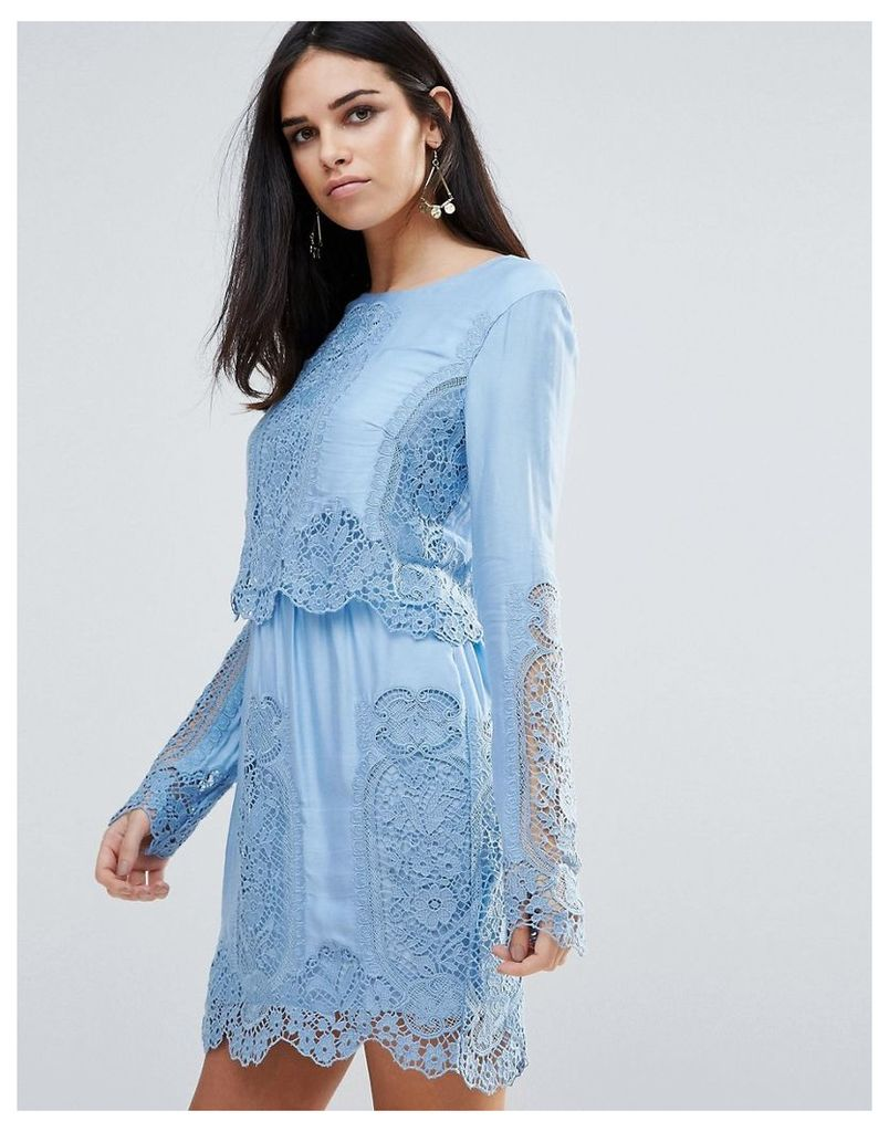 The Jetset Diaries Verona Long Sleeved Lace Mini Dress - Cnflw