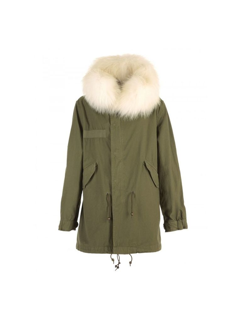 Mr & Mrs Italy Cotton Parka With Fur