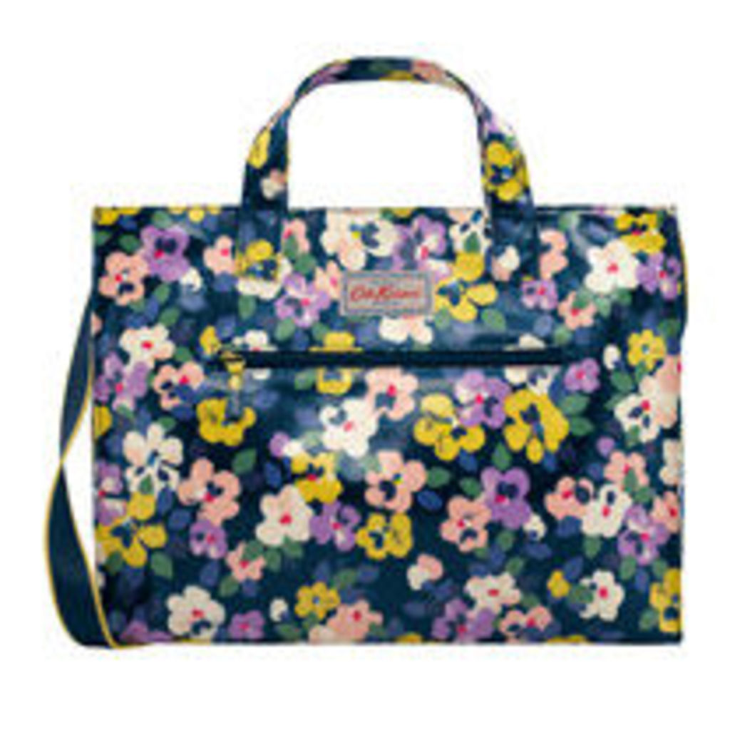 Large Painted Pansies Open Carryall