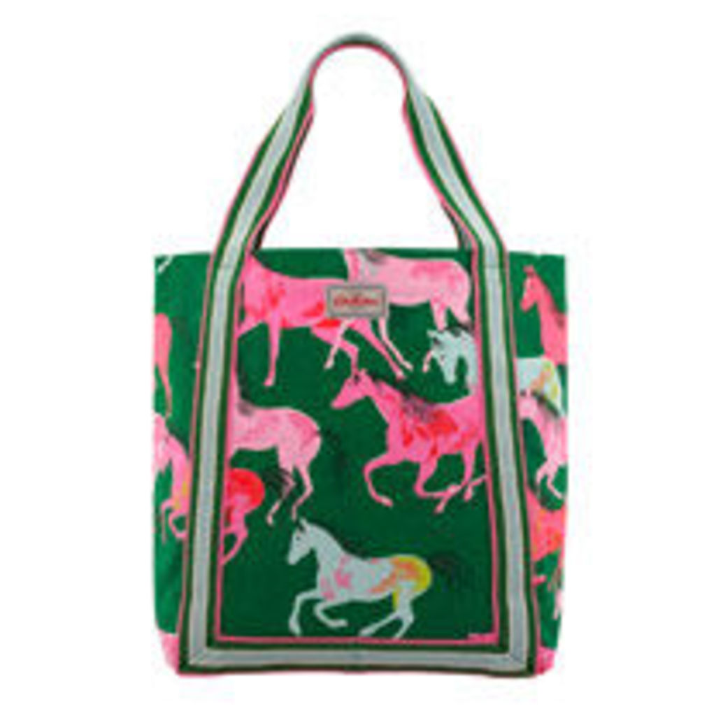 Painted Horses Reverse Coated Tote