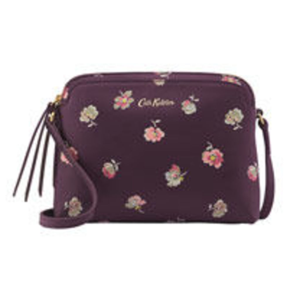 Mallory Sprig Printed Leather Cross Body Bag