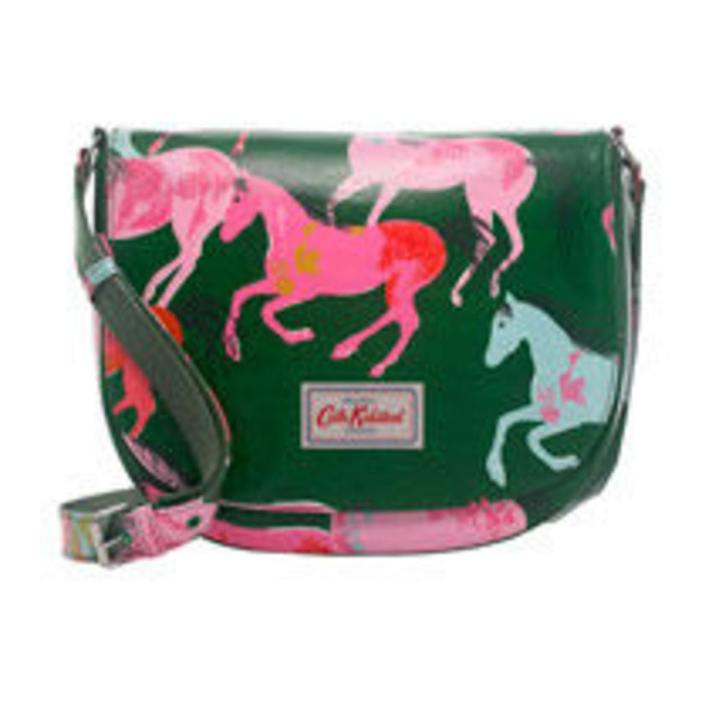 Painted Horses Large Curved Saddle Bag