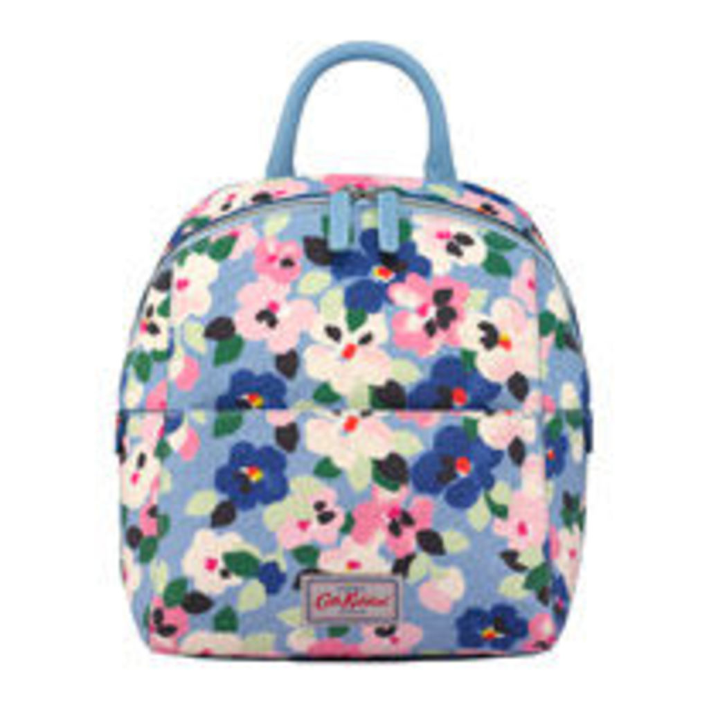 Large Painted Pansies Smart Zipped Backpack