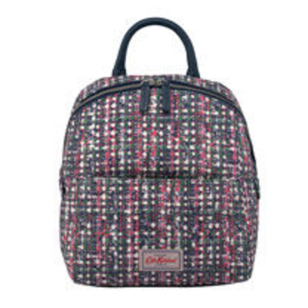 Woven Tweed Smart Zipped Backpack