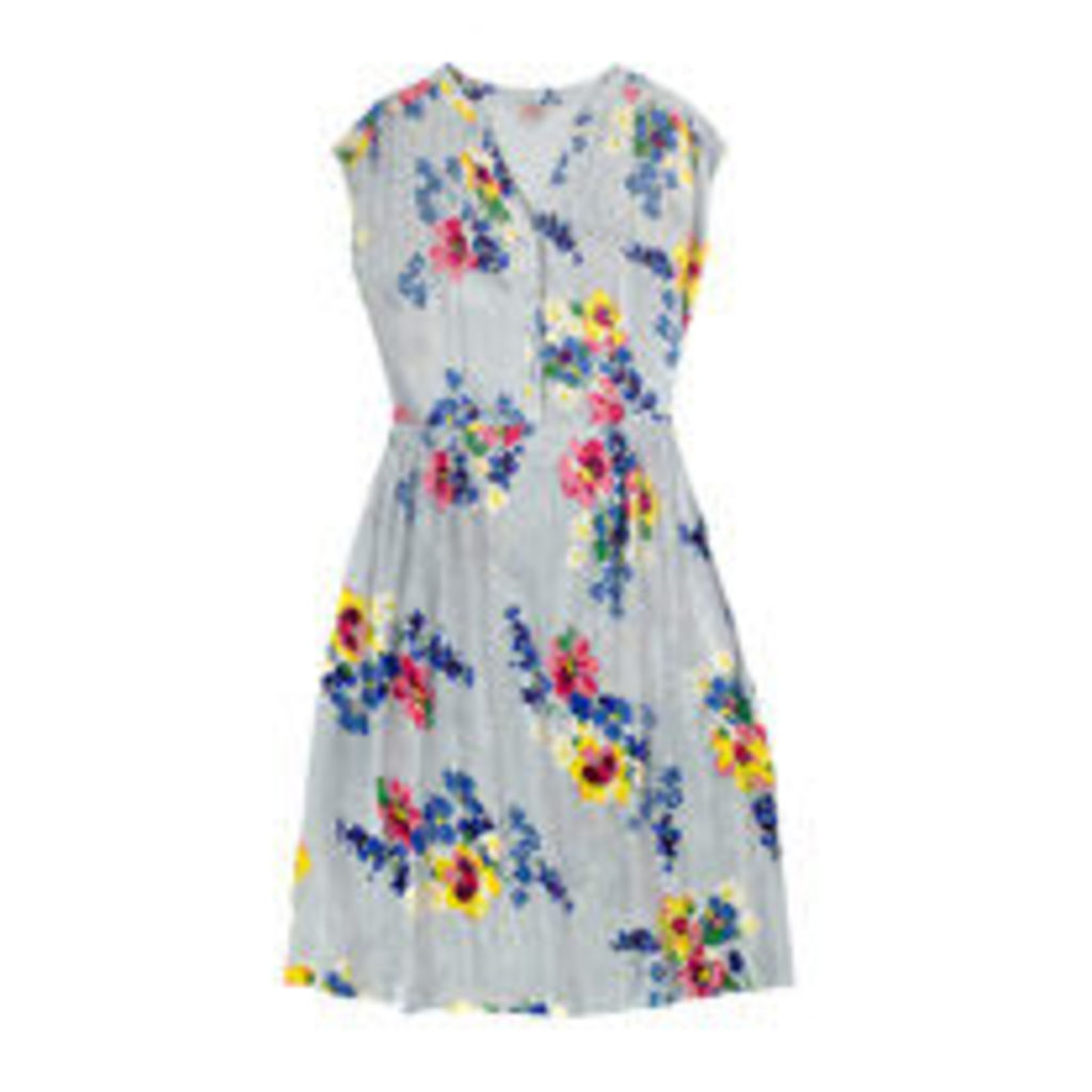Painted Posy Button Front Dress