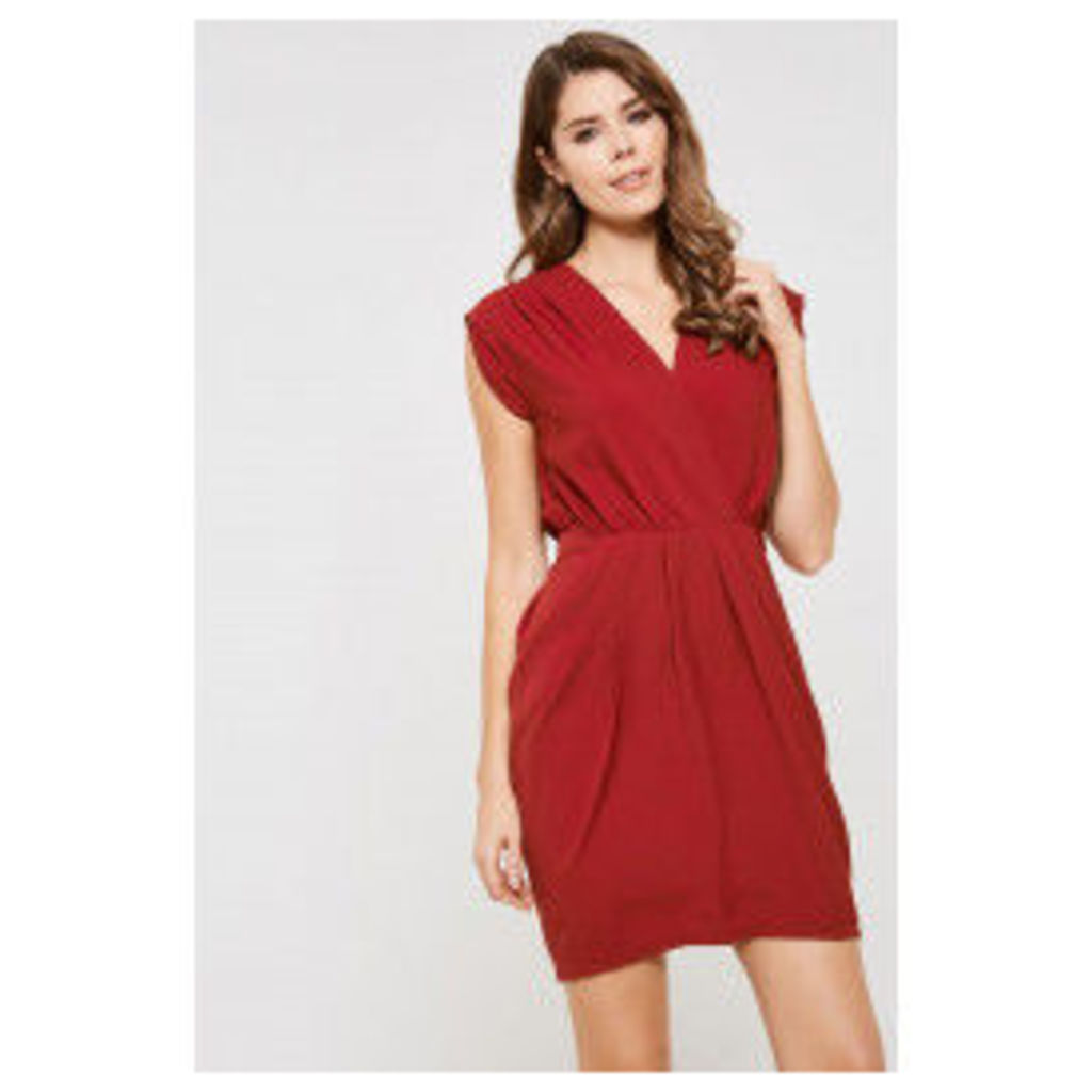 Y.A.S Amber Wrap Over Dress - Red