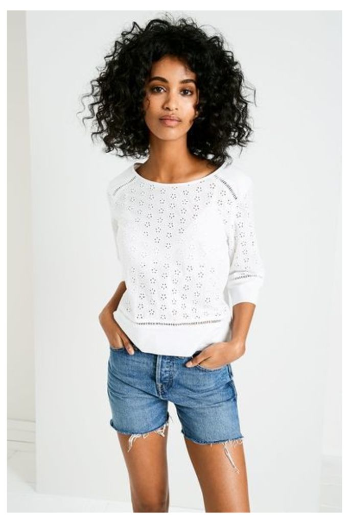 AMELIE BRODERIE TOP WHITE
