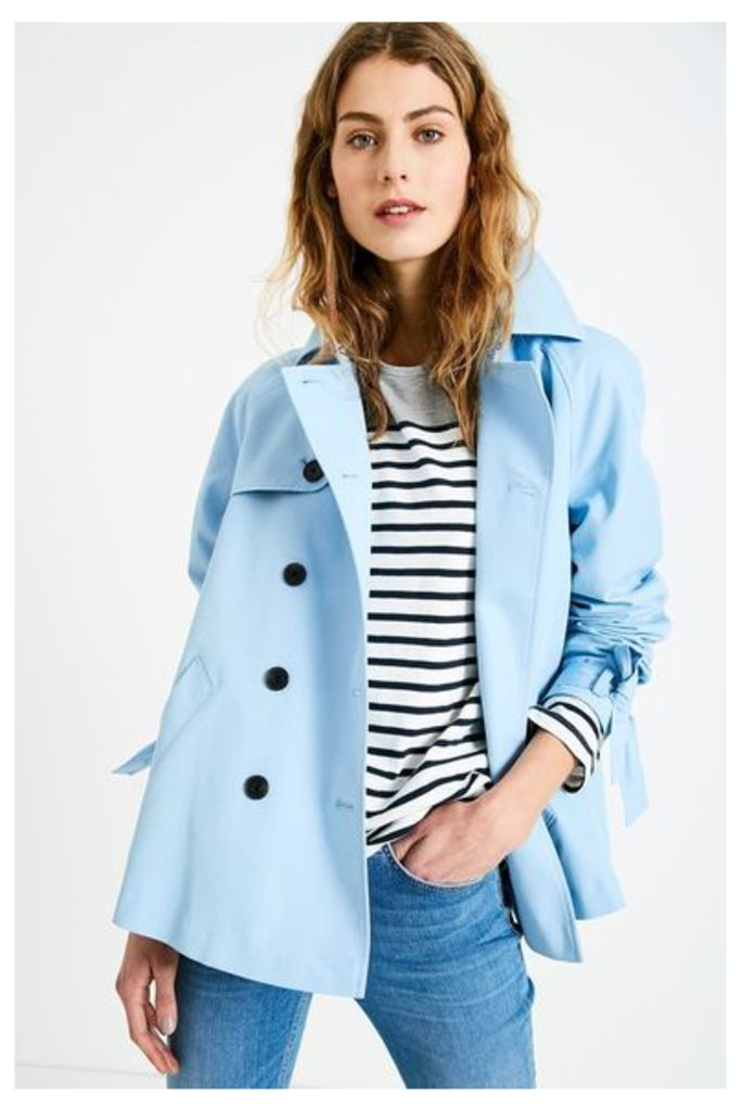 DOLLYHILL SWING TRENCH COAT PALE BLUE